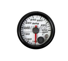 2-1/16 HOLLEY DIFF TEMP GAUGE-WHT