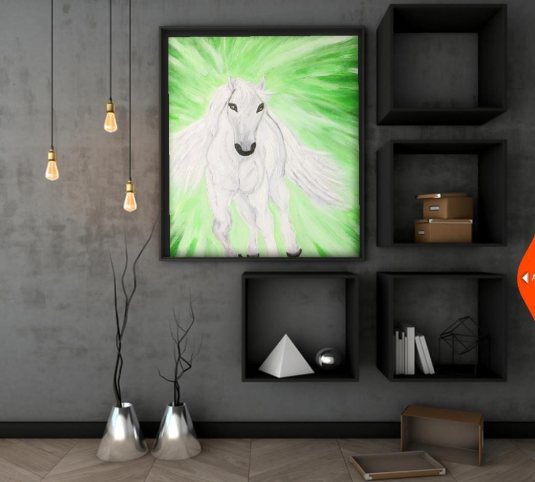 Originalkonst ,Häst 35x27 cm