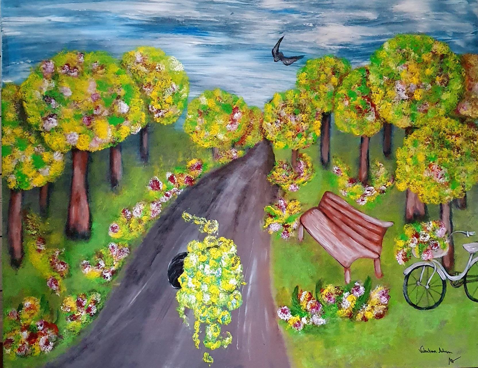Tavla, Färgglad natur by Valentina Achim