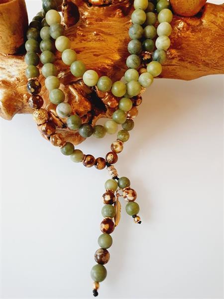Yogaarmband / halsband /108 Mala -Heart chakra