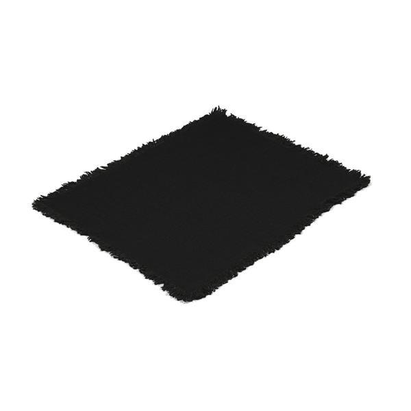 Tablett Rustik svart, med frans