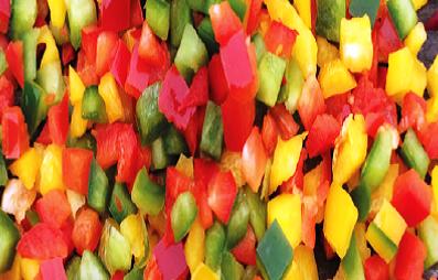 Paprika mix terning 0,5 kg