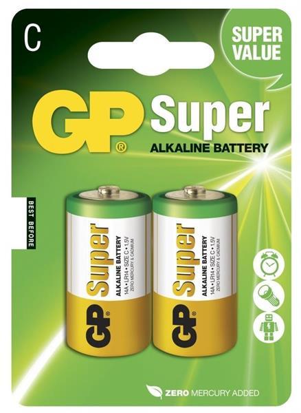 GP Super Alkaline 1.5V, Size C, LR14