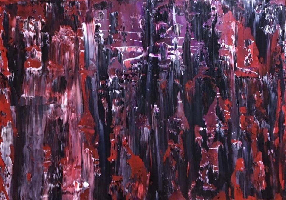 Abstrakt-Berg 70 x 50 cm.