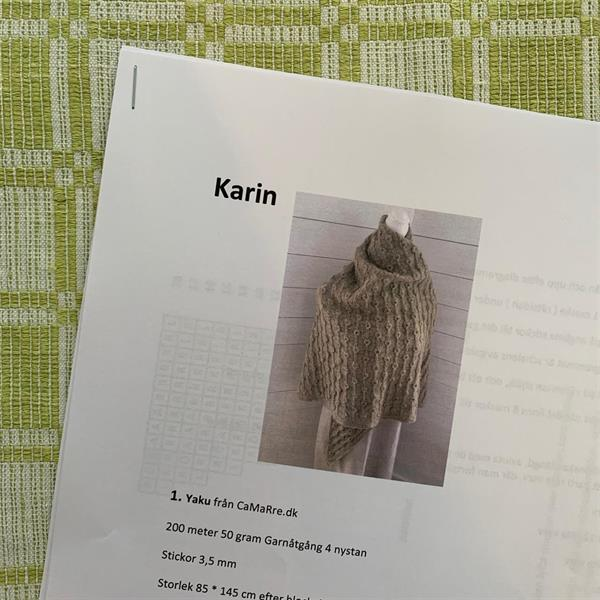 """Karin"" sjal - stickbeskrivning med porto"