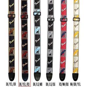 """Fender 2"""" monogrammed strap BK-YL-BR"""