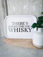Bricka 27x20 cm, Whisky, vit/svart text