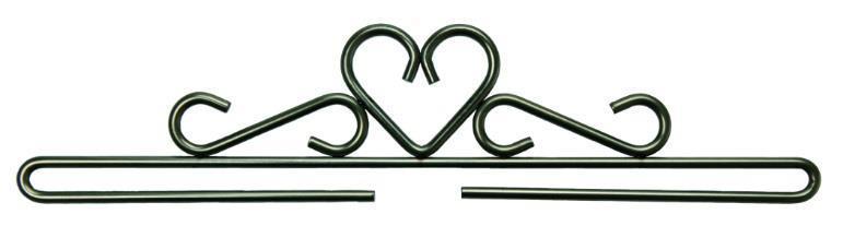 Beslag/hängare Svart hjärta 20 cm