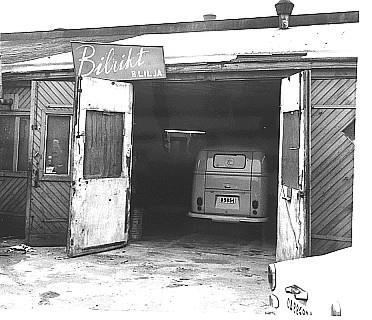 Typisk verkstadlokal på Göllbergsvass i Göteborg på 1960-talet