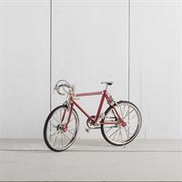 Cykel ,röd, metall