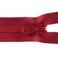 Glidelås delbar, rød 40cm