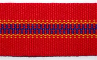 Damebånd - Rød, blå, gul