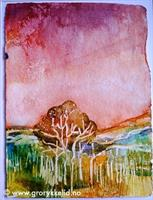 Høstlandskap 5, 28 x 37 cm