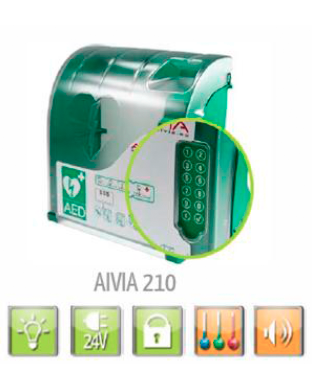 Skap til hjertestartar Aivia210