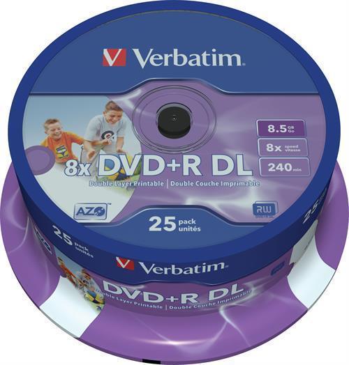 DVD+R DL MEDIA, VERBATIM 25P