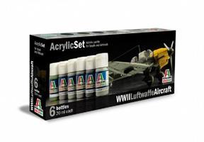 Acrylmaling Set. 6 stk. WWWII Luftwaffe Aircraft