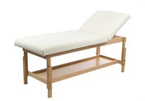 Stationär massagebänk i trä, tilt