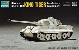 German Sd.Kfz. 182 King Tiger Porsche Turret w/Zim
