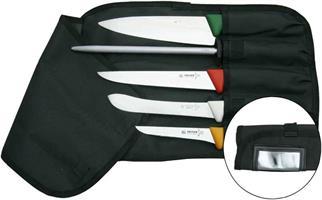 Knivfodral nylon, 5-facks / svart