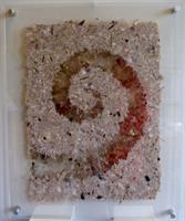 Håndlaget papir m glimmer, spiral