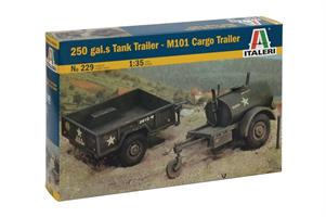 250 GAL. Tank Trailer / M101 Cargo Trailer