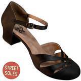 Black 1920s Satin d'Orsay Shoes