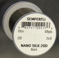 Nano Silk 20d 24/0-100m Svart