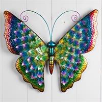 Fjäril färggrann, metall