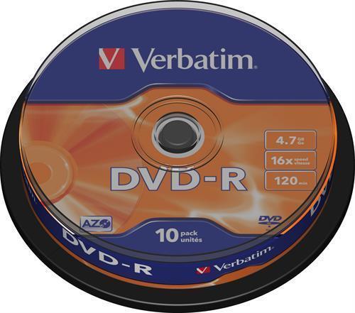 DVD-R MEDIA, VERBATIM 10-PACK