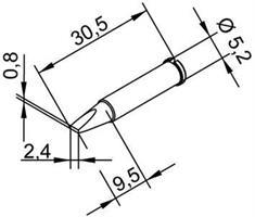 Tip Ersadur 2,4mm Chisel shape