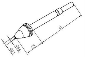 Tip for X-Tool 2,1mm