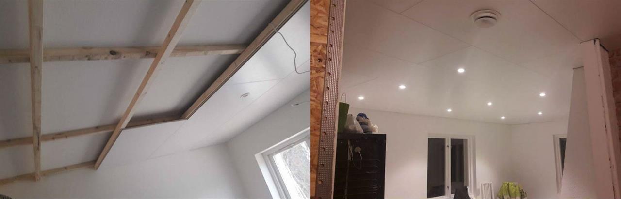 Installation av takbelysning och takpanel