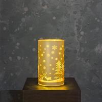 Glasrör LED julmotiv, guld