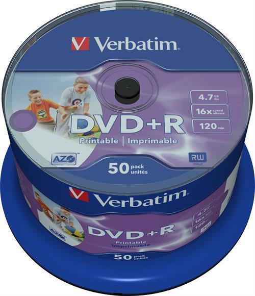 DVD+R MEDIA, VERBATIM 50-PACK