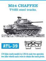 M24 CHAFFEE T72El steel tracks.