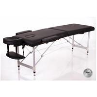Massagebänk i aluminium, svart 55cm