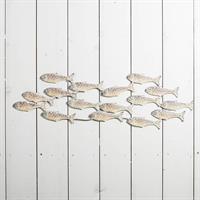 Fiskstim, vägg, metall