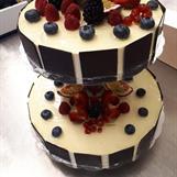 Bröllopstårta för 22 pers