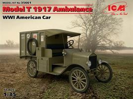 WWI American Car Model T 1917 Ambulance