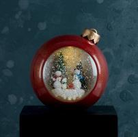 Lykta vattenglob, julkula, LED