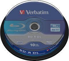 BD-R DL MEDIA, VERBATIM 6X, 10P