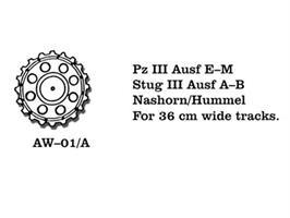 Pz III Ausf E-M, Stug III Ausf A-B, Nashorn/Hummel