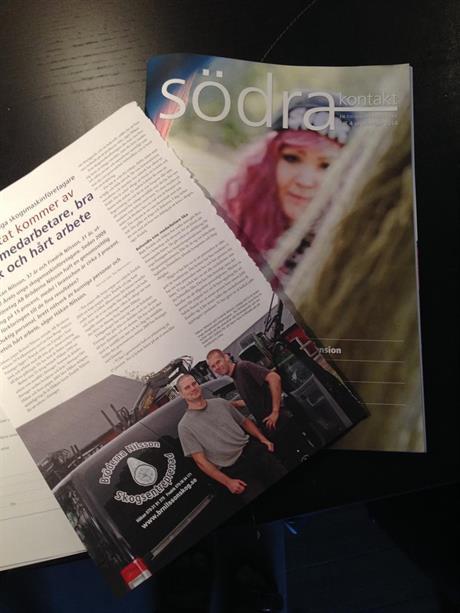 Artikel i Södras medlemstidning Kontakt