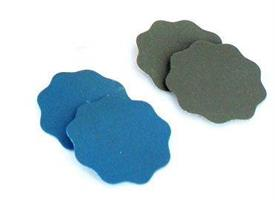 0 x superfine scalopped 1500 grit pads 32 mm (velc