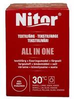 Nitor Tekstilfarge All-in-one, Rød