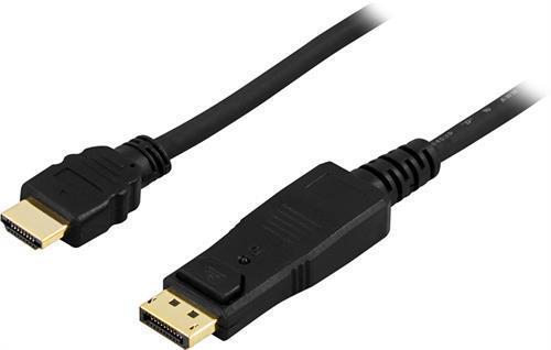 KABEL, DISPLAYPORT/HDMI, 5M