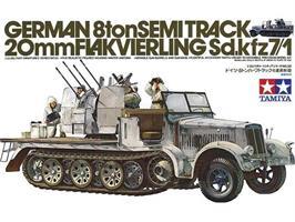 German 8ton Semitrack 20mm Flakvierling Sd.Kfz. 7/