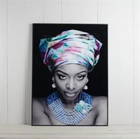 Tavla Afrikansk kvinna