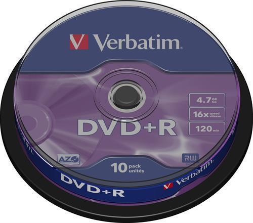 DVD+R MEDIA, VERBATIM 10-PACK