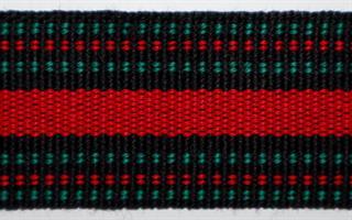 Herrebånd - Svart, grønn og rød